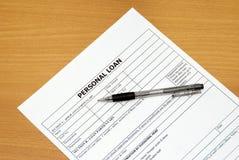 loan personligt Arkivbild