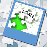 Loan Photo Shows Online Financing And Lending Royalty Free Stock Photography