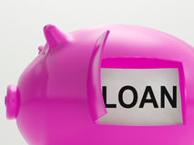 Loan Piggy Bank Means Money Borrowed Or Creditor Stock Photography