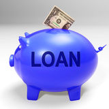Loan Piggy Bank Means Money Loaned And Financing Stock Photos