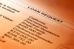 Loan Request stock photography