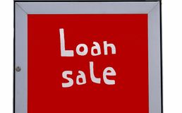 Loan sale sign Stock Photo
