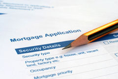 Loan security details Stock Image