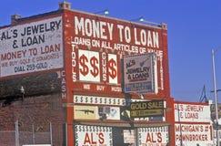 Loan Shark building in Detroit, MI Stock Photo