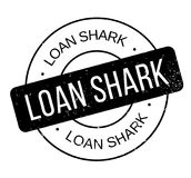 Loan Shark rubber stamp Royalty Free Stock Image