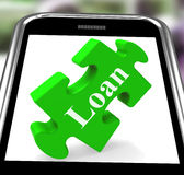 Loan Smartphone Shows Credit Or Borrowing Royalty Free Stock Images