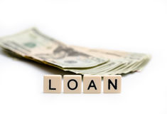 Loan. Spelled Out in Tiles royalty free stock photo