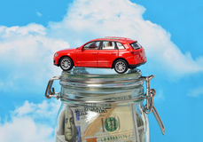 The loan to buy a car. In the bank Royalty Free Stock Photo