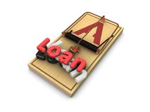 Loan trap. 3d render, loan trap concept isolated on white background Stock Photo