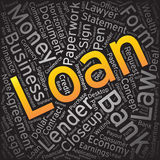 Loan,Word cloud art background.  Stock Photos