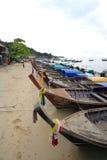Loang在披披岛的尾巴小船 免版税库存照片
