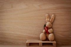 Loanly królik trzyma marchewki zdjęcie stock