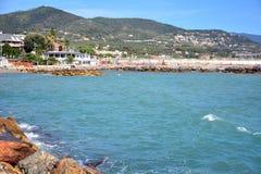 Loano shore Royalty Free Stock Photos