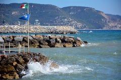 Loano shore Stock Photography