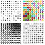 100 loans icons set vector variant. 100 loans icons set vector in 4 variant for any web design isolated on white Stock Photo