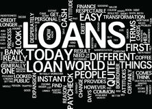 Loans Until The Next Paycheck Text Background Word Cloud Concept Stock Images
