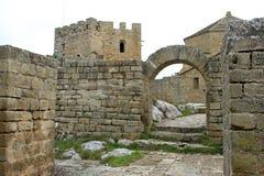 Замок монастыря Loarre (Уэска) стоковое фото