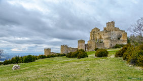 Loarre Castle Castillo de Loarre in Huesca Province Aragon Spain Royalty Free Stock Images