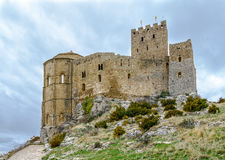 Loarre Castle Castillo de Loarre in Huesca Province Aragon Spain Royalty Free Stock Photo