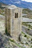 Loarre Castle Castillo de Loarre in Huesca Province Aragon Spain. Medieval castle of Loarre over the rocks in Aragon, Spain Stock Image