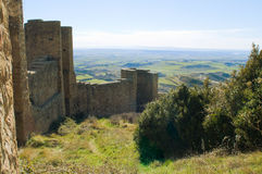 Loarre Castle, Huesca, province of Zaragoza, Arragon,  Spain Royalty Free Stock Photography