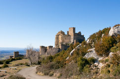 Loarre Castle, Huesca, province of Zaragoza, Arragon,  Spain Royalty Free Stock Photo
