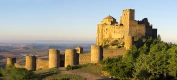 Loarre slott, Huesca landskap, Aragon. Royaltyfri Bild