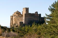 Loarre slott, Huesca, landskap av Zaragoza, Arragon, Spanien Arkivfoto