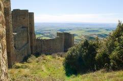 Loarre slott, Huesca, landskap av Zaragoza, Arragon, Spanien Royaltyfri Fotografi