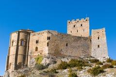 Loarre slott, Huesca, landskap av Zaragoza, Arragon, Spanien Royaltyfri Foto