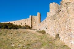 Loarre slott, Huesca, landskap av Zaragoza, Arragon, Spanien Fotografering för Bildbyråer