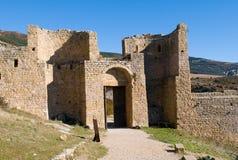 Loarre slott, Huesca, landskap av Zaragoza, Arragon, Spanien Royaltyfria Foton