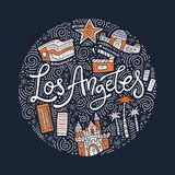 Loas Angeles Symbols Στοκ Φωτογραφία