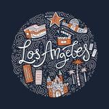 Loas Angeles Symbols Στοκ φωτογραφία με δικαίωμα ελεύθερης χρήσης