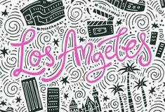 Loas Angeles Symbols Διανυσματική απεικόνιση