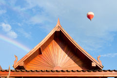 Loas style roof for house Stock Photography