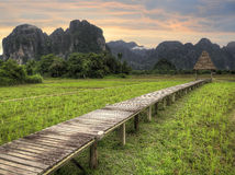 Loas Sunrise Stock Image