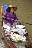 Loating Market in Damnoen Saduak, Thailand Royalty Free Stock Photos