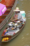 Loating Market in Damnoen Saduak, Thailand Stock Image