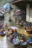 Loating Market in Damnoen Saduak, Thailand Stock Images