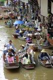 Loating Market in Damnoen Saduak, Thailand Royalty Free Stock Photo