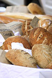 Loaves of Bread. Variety of homemade artisan bread loaves royalty free stock images
