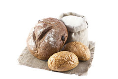 Loaves of bread isolated Stock Photos