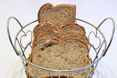 Loaves of bread. Prepared to be served at the table royalty free stock photos