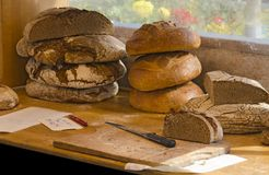 Loaves of bread Stock Photos