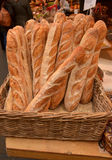 Loaves. On display and for sale on a produce market in London, England royalty free stock photography