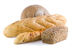 Loaves of the fresh bread. Heap of loaves of fresh bread Stock Image