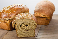 Loaves of fresh whole wheat bread Royalty Free Stock Photo