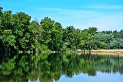 Lobau krajobraz Zdjęcie Stock