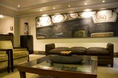 Lobby élégant d'hôtel photos stock